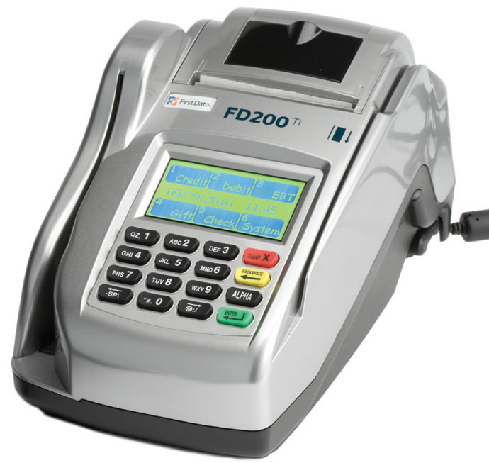 VeriFone TeleCheck Eclipse Terminal and Check Reader